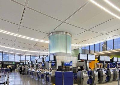 Boston Logan International Airport, Terminal C Ticketing Hall Ceiling